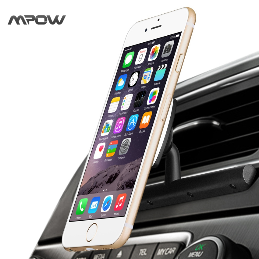 bilder für Mpow Beste Magnetische CD Slot Auto Halterung 360 Grad Swivel Universal Schwarz Cradle-weniger Autotelefonhalter mit beste qualität