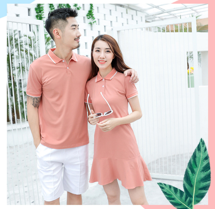 HTB1f115XET1gK0jSZFrq6ANCXXap - family matching outfits summer Polo shirt mother daughter matching dresses dad son turn down collar family couple clothes