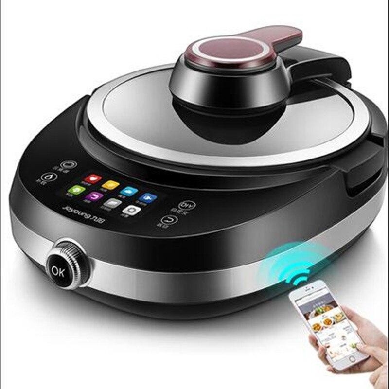220 V électrique automatique électrique remuer Wok Pot anti-adhésif ménage Intelligent Multi cuiseur Robot Machine de cuisson EU/AU/UK