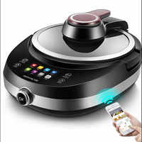 220V Electric Automatic Electric Stir-Frying Wok Pot Non-stick Household Intelligent Multi Cooker Robot Cooking Machine EU/AU/UK
