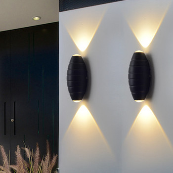 Thrisdar アップダウン 6 ワット屋外防水 LED 壁ランプクリエイティブホテルガーデンヴィラポーチライト廊下通路階段壁ライト