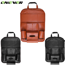 Onever Car Seat Back Hanging Organizer Bag with Foldable Shelf