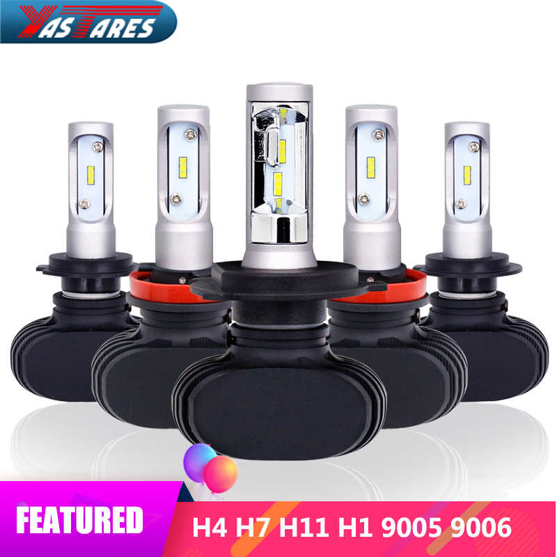 S1 LED Headlight H4 H7 H13 H11 H1 9005 HB3 9006 HB4 9007 HB5 Led Bulb 50W 8000Lm Car Light 12V Fog Lamp Automobiles 6000K CSP