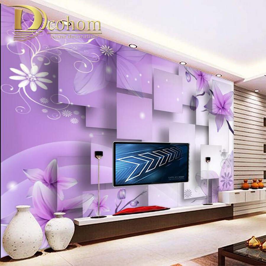 Custom photo mural wallpaper for walls walls 3 d for 3d wallpaper for bedroom indian