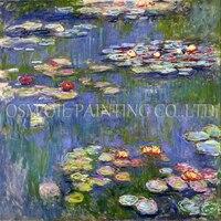 Бесплатная доставка Клод Моне Водяные лилии картина маслом на холсте репродукции впечатление цветок лилии маслом для украшения