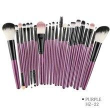 22Pcs Pro Makeup Brushes Set Professional Shadow Foundation Powder Eyeliner Eyelash Lip Make Up Brush Cosmetic цены