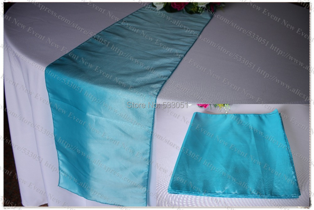 No 91 Dark Sky Blue 35pcs Tafetta Chameleon Table Runner Tablecloth Cover For Wedding Party Hotel Banquet Home Decorations In Runners From