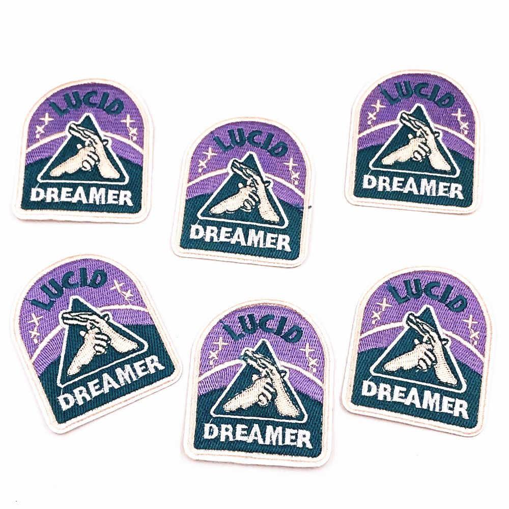 Новое поступление 3 шт. Dreamer Parches вышивка железа на заплатках Одежда DIY полосы наклейки для одежды шитье на аппликации, бейджи
