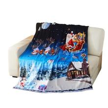 Christmas Blanket Navy Santa Sleigh Throw Blanket цены онлайн