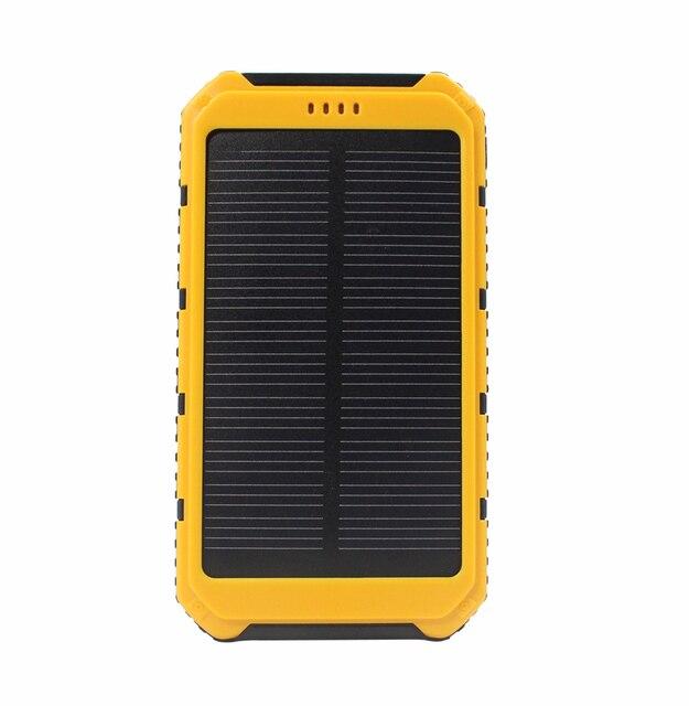 Новый 10000 мАч Солнечное Зарядное Устройство Водонепроницаемый Солнечное Зарядное Внешняя Батарея Dual USB Power Bank для iphone 5/5s