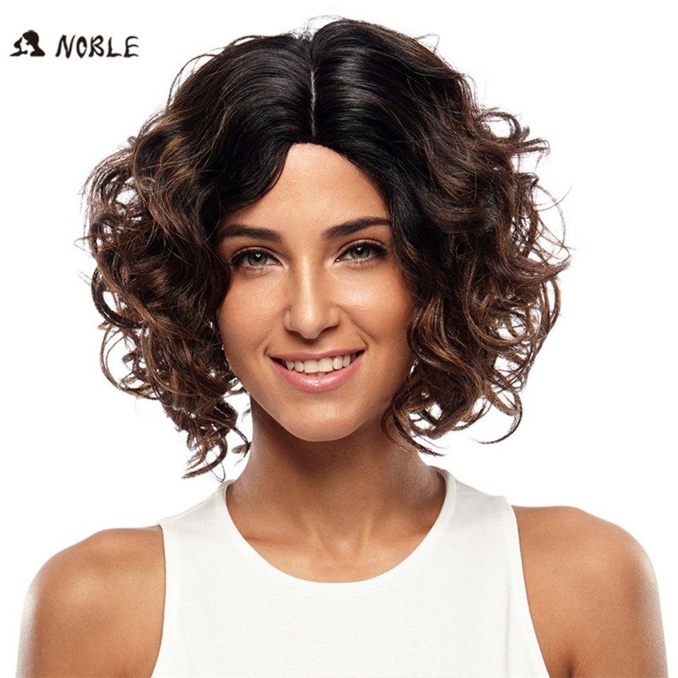 Noble Hair Products Högtemperatur Fiber Ingen Spetsparykar 12 Inch - Syntetiskt hår