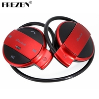 FREZEN מיני 501 Bluetooth האלחוטית אוזניות ספורט אוזניות Bluetooth אוזניות סטריאו מוסיקה + חריץ כרטיס TF + רדיו FM עבור טלפון pad