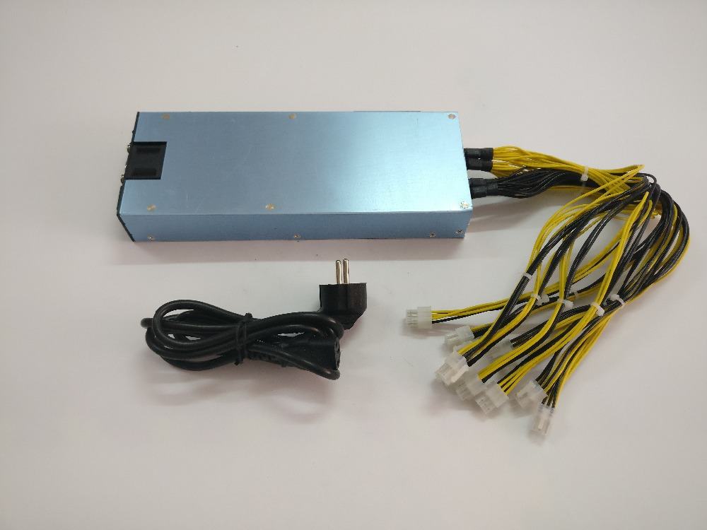 YUNHUI 1600W BTC power supply for ANTMINER S9 S7 AntminerL3 L3 PINIDEA miner A4 dominator miner