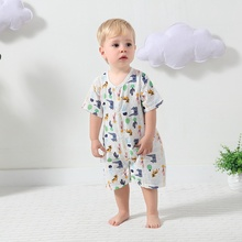 1pc Cotton Toddler Pajamas Cartoon Animal Baby Romper Long Sleeve Baby Toys for Newborn Outfits Covered Infants Short One-piece