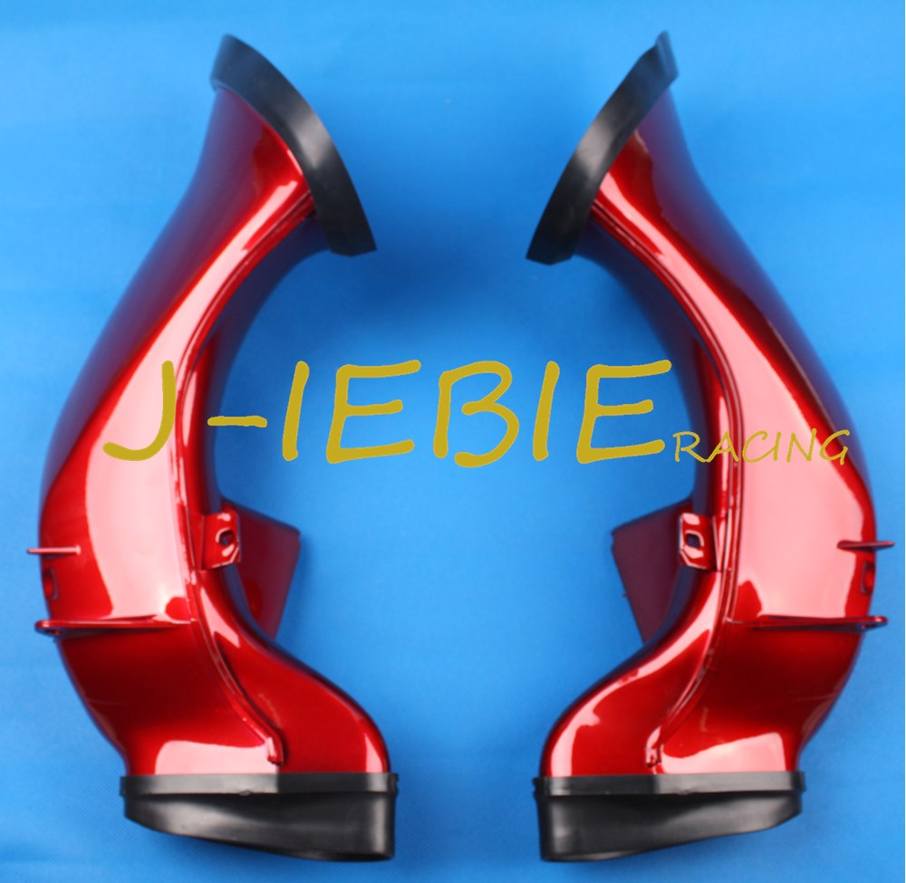 RED Ram Air Intake Tube Duct Black For Yamaha YZF R1 2004 2005 2006