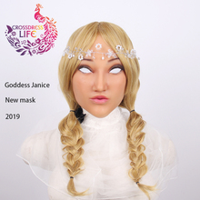 Crossdress Life 2019 realistic silicone female mask goddess Janice Halloween mask masquerade cosplay drag queen crossdresser eyung realistic mask goddess claire for cosplay top masquerade silicone high simulation mask for crossdresser face drag queen