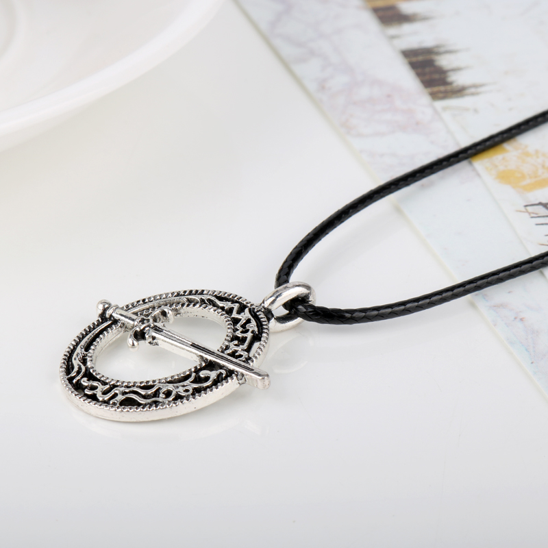 Dark souls 3 blade of the dark moon pendant necklace mens leather dark souls 3 blade of the dark moon pendant necklace mens leather rope colar gift jewelry in chain necklaces from jewelry accessories on aliexpress aloadofball Choice Image