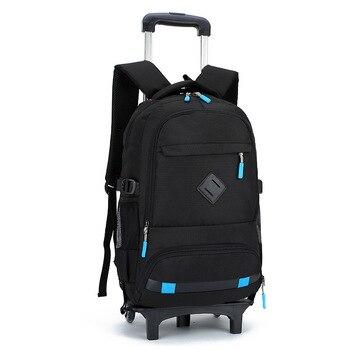 2019 Trolley Backpacks For Children School Wheeled Bags Boys Detachable Backpacks For Girls wheel bags mochila infantil escolar