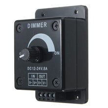Dimmable LED Light Dimmer Switch Brightness Manual Adjustable Control DC 12V-24V 8A Output Power 96W(China)