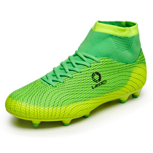 New Football Boots Men Soccer Shoes Boys Kids Soccer Cleats FG High Ankle Football Shoes Big Size Soccer Boots 33-45 S93