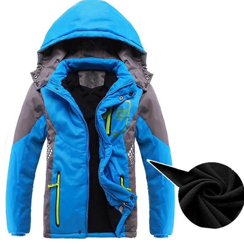 Обувь для мальчиков Куртки детей двухэтажные Водонепроницаемый верхняя одежда дети ветрозащитный Пальто для будущих мам Спорт Костюмы мал...