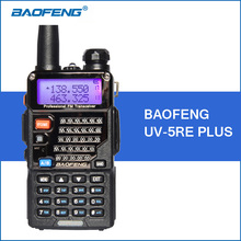 Baofeng uv-5re plus talkie walkie 5 w vhf uhf dual band portable talkie walkie de poche deux way ham radio communicateur émetteur-récepteur