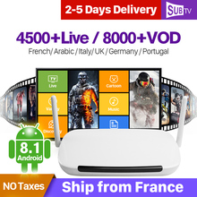 4K France Arabic IPTV Q9 TV Receiver Android 8.1 Box 1G 8G Quad-Core With SUBTV Subscription IPTV France Arabic Italia IP TV