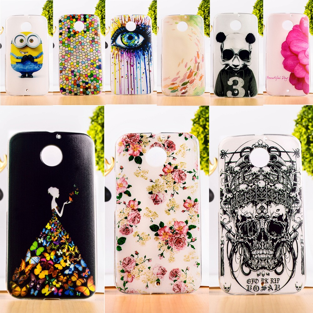 DIY Painted Soft TPU & Hard Plastic Phone Case For Motorola Moto X2 X+1 XT1094 Cell Phone Cover Anti-Knock Function Phone Skins