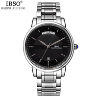 IBSO Mens Watches Top Brand Luxury Fashion Relojes Hombre 2017 Stainless Steel Quartz Watch Men Multifunction