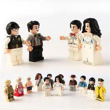 12 Blocos de Construção de Modelos Profissionais Humanoid Figura Bonecas Dos Desenhos Animados Boneca Do Noivo e Da Noiva