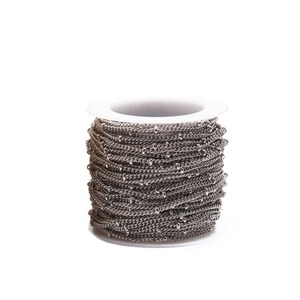 Image 4 - Corrente de colares 2mm 3mm, corrente de metal inoxidável torcida, esfera de ouro, de metal, para colares pulseiras fabricação de joias dos pés