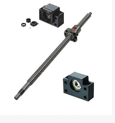 ФОТО Mechanical components 1  Ballscrew SFU1605-L1000mm with ballnut+end machining+1set BK/BF12
