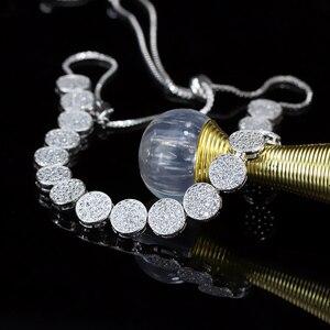 Image 4 - CWWZircons collier choker pour femmes, taille ajustable à la mode, couleur or Rose, Micro, pavé, rond, zircone cubique, CP006