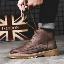 Plus Size 46 British Style Martins Boot Man Leather Winter Snow Boots Ankle DR 2018 Mens Casual Sports Work Fur Timber Shoes Bot