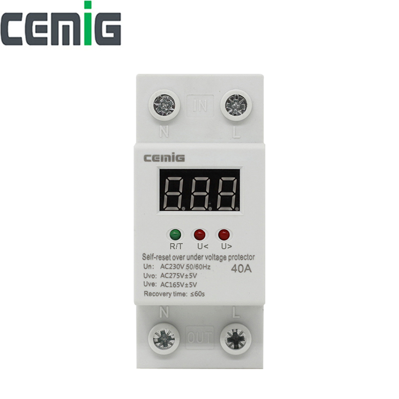 Cemig Automatic Recovery Reconnect Over Voltage And Under Voltage Protective Device Protection Relay With LCD Voltage Monitor