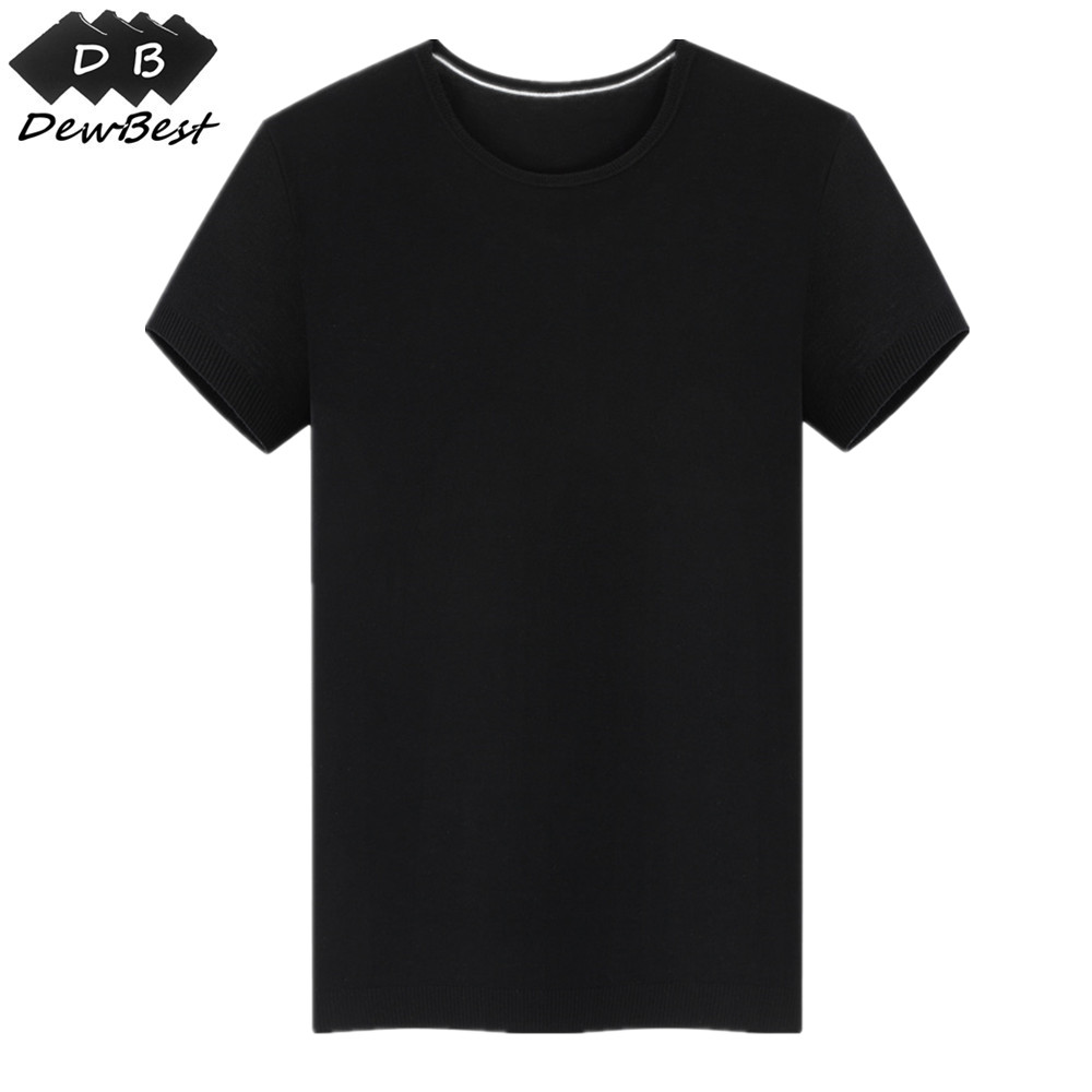 DEWBest Light Quality 150GSM 100% Australia Merino Wool Mens Short Sleeve T Shirt, Light Merino Wool T Shirt For Summer, Europe-in T-Shirts from Men's Clothing    1