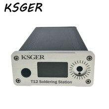 KSGER aleación STM32 OLED T12 Digital temperatura estación de soldadura caso cubierta blanco negro delgado Panel grueso