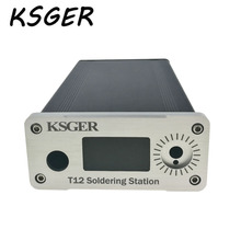 KSGER alliage STM32 OLED T12 numérique température soudure Station housse blanc noir mince épais panneau