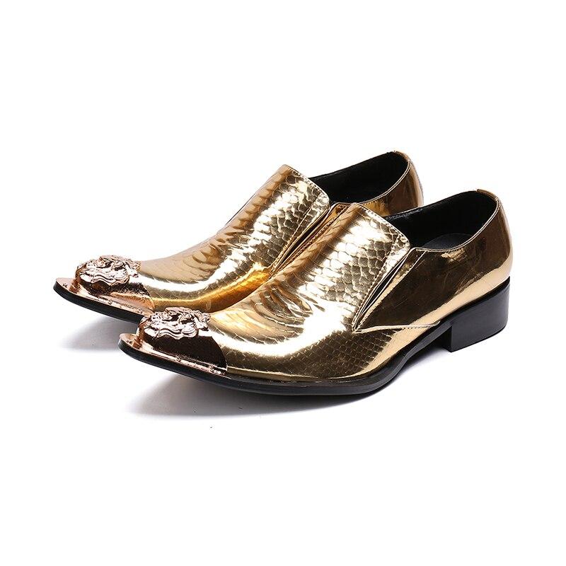 73b0430b75 Masculino Couro Homens Italianos Formal Vestido Vivodsicco Oxford Flats  Patente Desinger Ballroom New Sapatos De Ouro ...