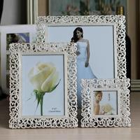 Suknia ślubna 3 6 7 10 calowy metalowej romb ramki huśtawka ramka na zdjęcia prezent ślubny