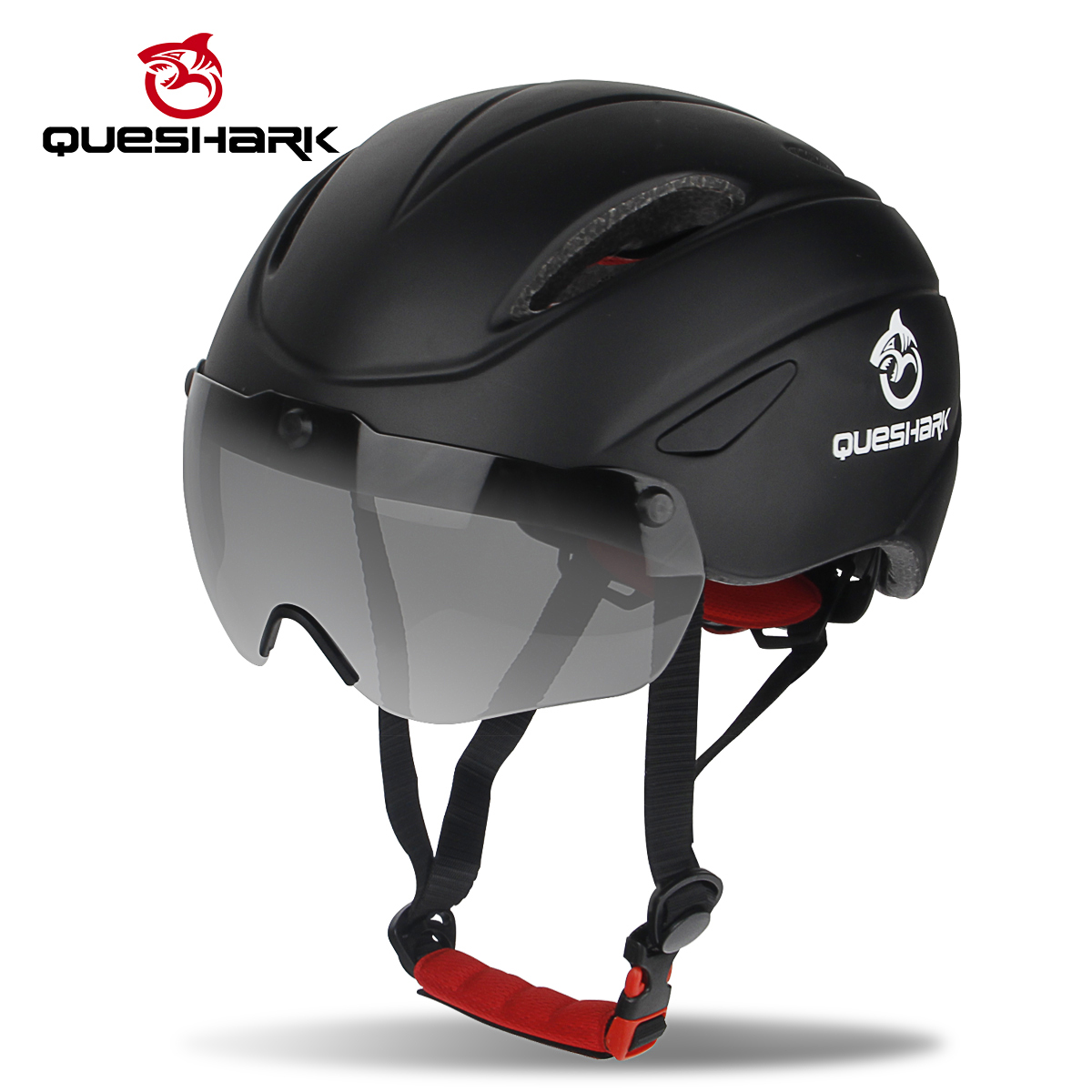 QUESHARK Aero Goggles Bicycle Helmet Safety Racing Cycling Helmets Helmets with