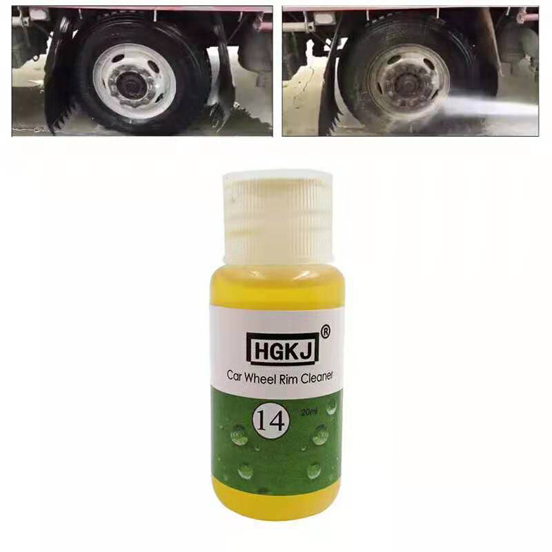 HGKJ <font><b>14</b></font> 20 50ml Car Whee Rust Removal Cleaner <font><b>Rim</b></font> Cleaning Agent High Concentration Liquid Dropship image