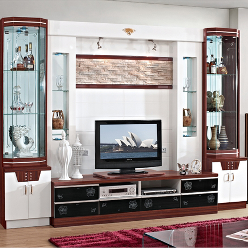 wine cooler modern brief fashion glass cabinet office display cabinet combination tv cabinet wall paint wall