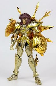 Image 2 - En stock Chuanshen modèle balance Dohko sog âme de dieu or EX figurine en métal armure
