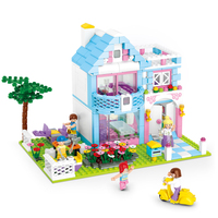 Sluban Model Building Compatible lego Lego B0535 539pcs Model Building Kits Classic Toys Hobbies Garden Villas Series