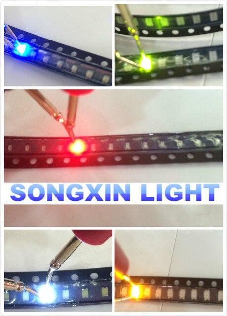 5000 יח\חבילה 0805 Ultra מואר SMD R/G/B/W/Y נוריות כל 1000pcs 0805 SMD LED אדום ירוק כחול לבן צהוב פולטות אור דיודה