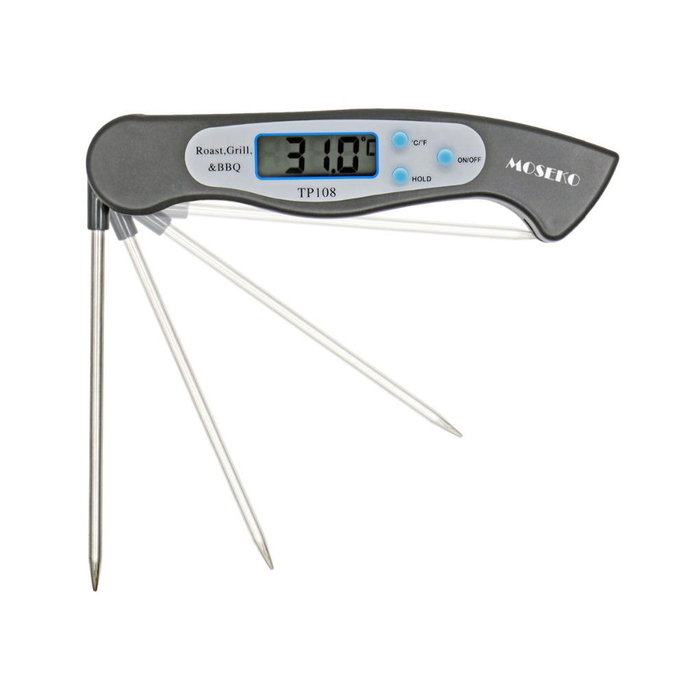MOSEKO Foldable Digital Oven Thermometer BBQ Folding Meat Food Probe Kitchen Thermometer Liquid Water Oil Cooking Grill Tools