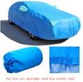 for kia rio sportage kia ceed cerato k2 k3 k5 grey blue solid waterproof double layers car covers Dust snow anti uv four season
