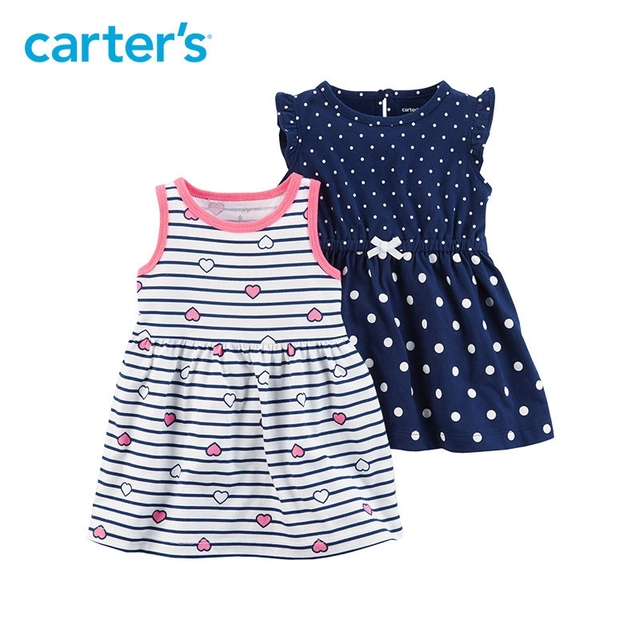 39c216b70 Carter s 2 Pack baby children kids clothing Girl Summer Jersey ...