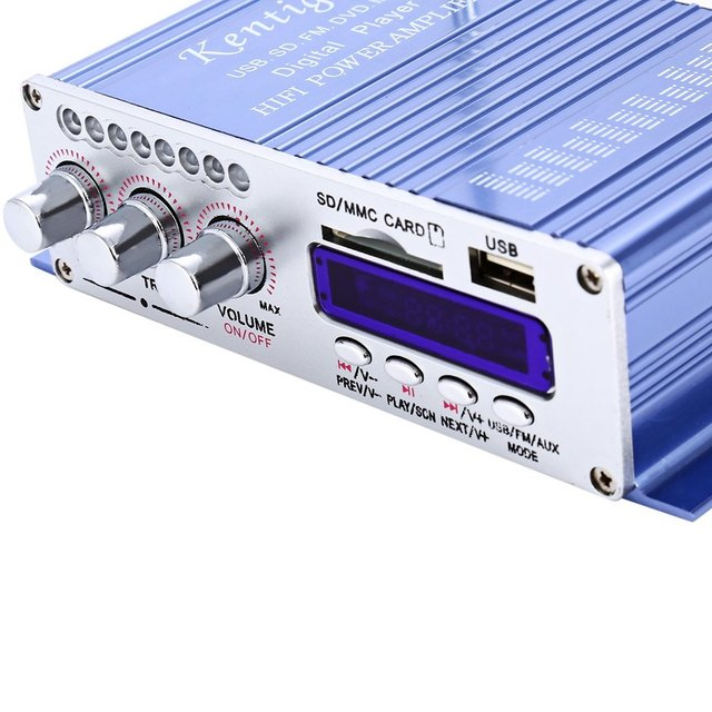 502 2CH Hi-Fi Stereo Low Distortion Low Noise Output Power Amplifier USB / SD Card Player With Remote Control Function
